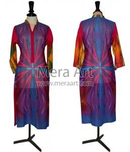 digital embroidered kurtis, digital prints fashion Mera art, meraart.com,