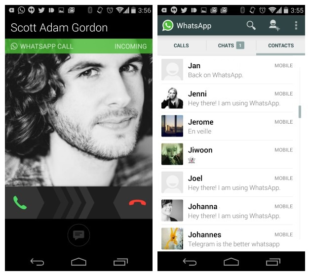 WhatsApp voice call in India Pakistan UAE saudi arab 2