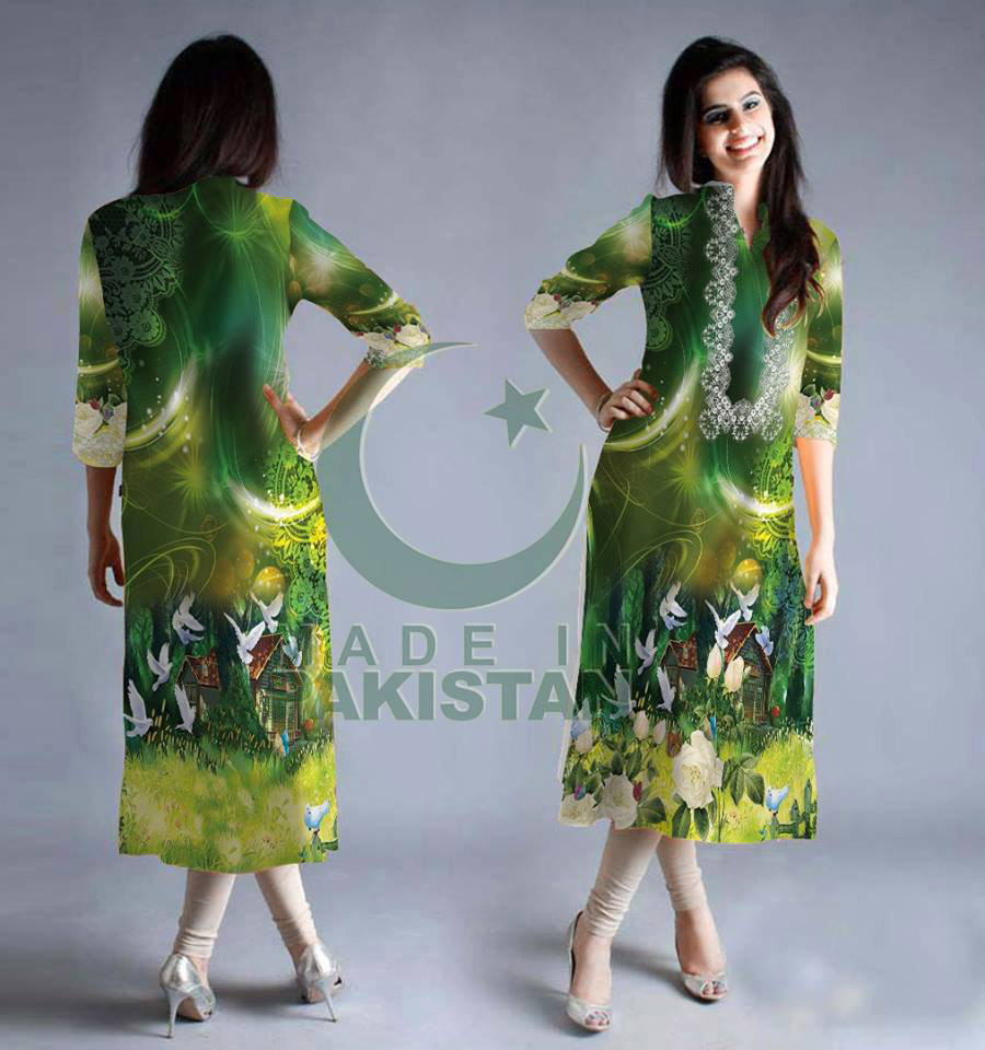 Shukriya Pakistan Banner 14th august 2016 digital kurti tunic kameez 2